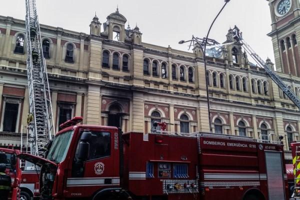 Curto-circuito pode ter iniciado incêndio no Museu da Língua Portuguesa