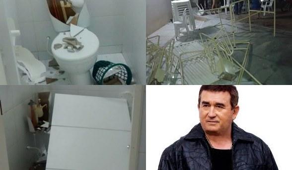 Banheiros, portões e cerca de 30 meses e 100 cadeiras foram quebrados.