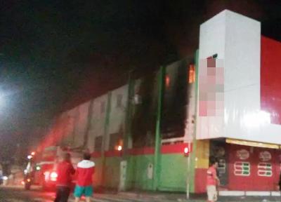 Incêndio atinge supermercado em Esperança, no Agreste da Paraíba