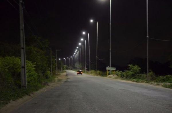 São Gonçalo conclui primeira etapa da iluminação da RN 160