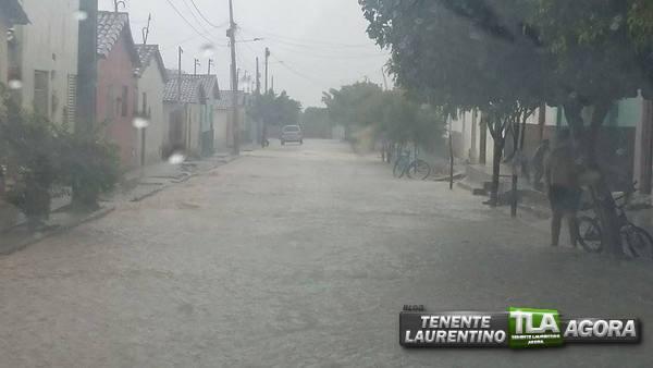 Choveu 76mm neste domingo em Tenente Laurentino Cruz