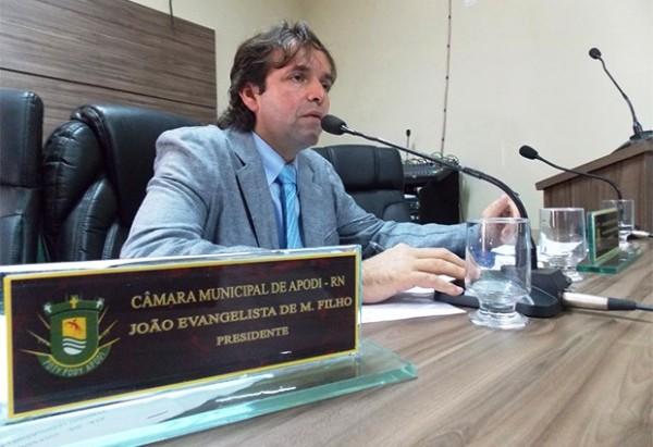 Vereador João Evangelista de Menezes Filho, presidente da Câmara Municipal de Apodi (Foto: Márcio Morais)