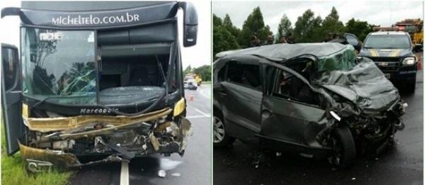 Acidente com ônibus de Michel Teló mata três pessoas no PR