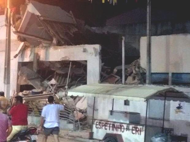 A agência do Banco do Brasil ficou destruída (Foto: Divulgação/PM).