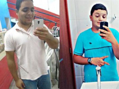 Os jovens Philipe Filho e Anderson Santos morrem na hora.