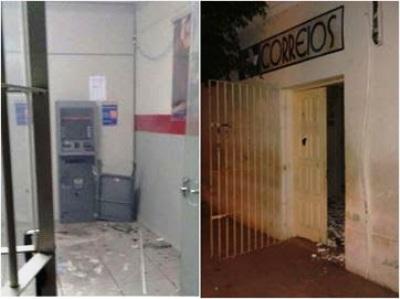 Em 1h, grupos explodem caixas eletrônicos de bancos e sede dos Correios, na PB