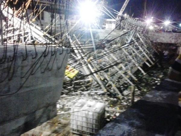 Obra de viaduto desaba e deixa pelo menos 10 feridos em Fortaleza