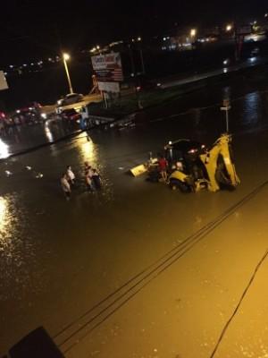 A cidade foi abençoada com mais de 100 milímetros de chuva nessa terça feira, 22.