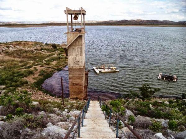 Boqueirão de Parelhas já aumentou seu nível d'água em 3 metros e 30 centímetros nas últimas 24h