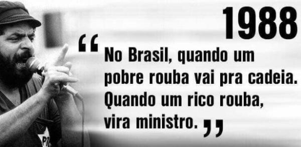 Frase de Lula de 1988 sobre impunidade de ministros vira meme