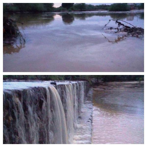 """Em Frei Martinho, choveu 120 mm; açudes e barragens transbordaram e principal rio ficou de """"barreira a barreira"""""""