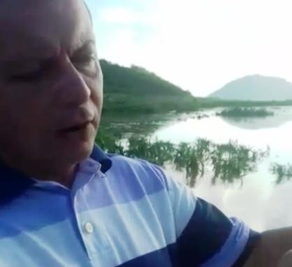 VÍDEO: Prefeito de Acari mostra primeiras águas chegando ao Gargaleiras