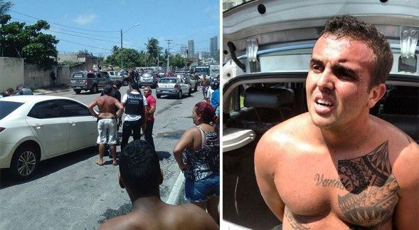 Homem rouba carro, colide contra viatura e é preso pela PM