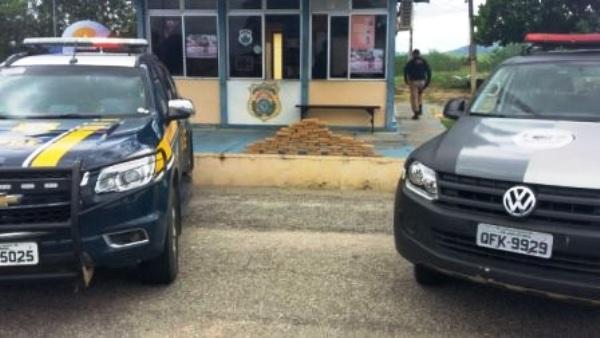 Trio é detido transportando 50 quilos de maconha em carro próximo a Patos