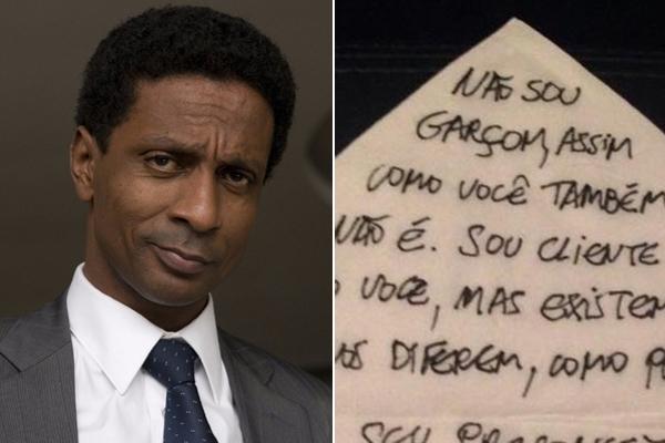 Ator da Globo desabafa após ter sido confundido com garçom