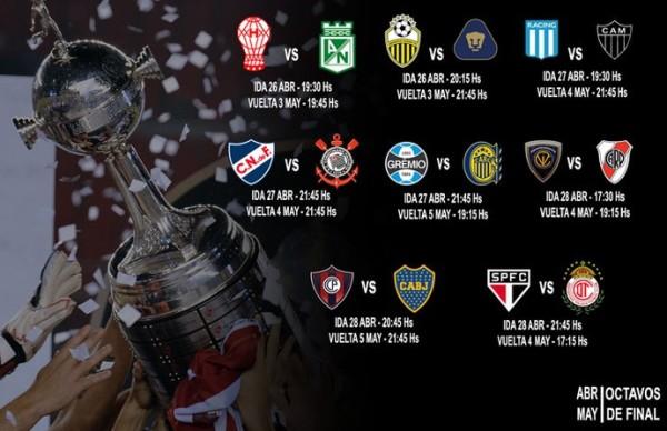 Conmebol divulga datas e horários das oitavas de final da Libertadores