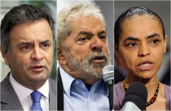 Lula tem 21%, Marina,19% e Aécio,17%, diz pesquisa Datafolha