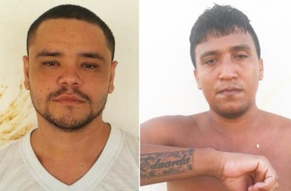 Erik Rodrigues de Araújo (esquerda) fugiu após tentar matar a tiros Carlos Eduardo (Foto: Divulgação/Direção da Penitenciária Agrícola Dr. Mário Negócio)