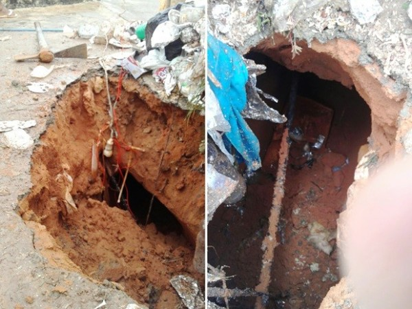 Com chuva, solo encharca e túnel aberto por presos desaba em Alcaçuz