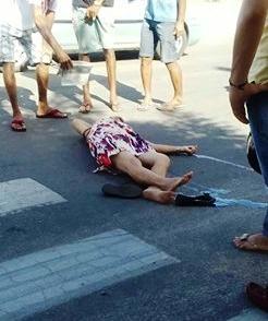Senhora é atropelada na faixa de pedestres, em Parelhas