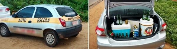 Carro de auto escola é apreendido durante blitz da Lei Seca em Natal