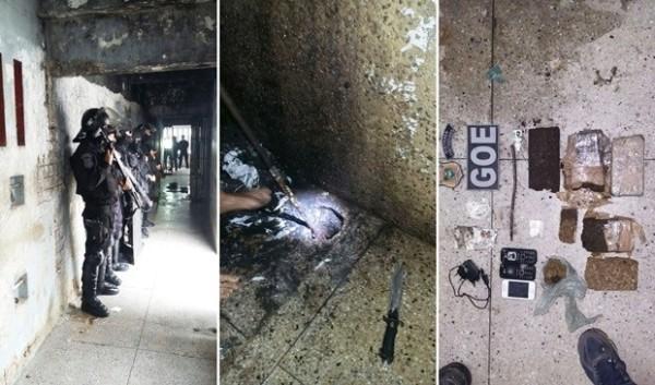 Agentes encontram 4 kg de drogas em esgoto na Cadeia Pública de Natal