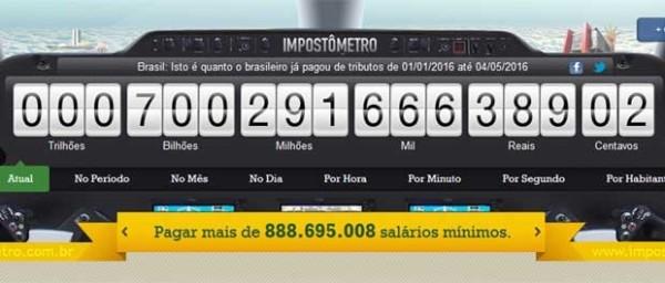 Brasileiros já pagaram 700 bilhões de impostos em 2016