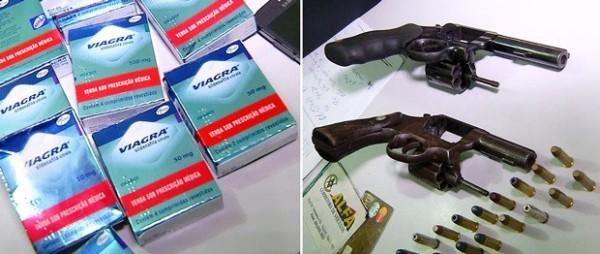 Ladrões roubam Viagra de farmácia, trocam tiros com a PM e são presos