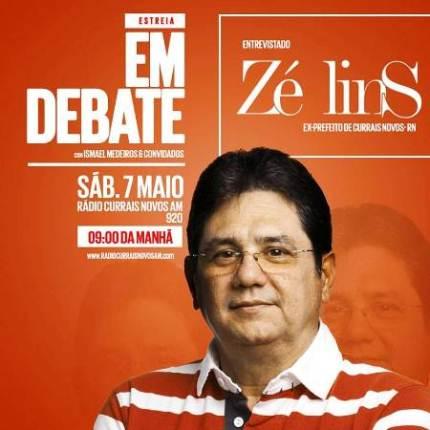 Rádio Currais Novos estreia 'Programa Em Debate' no comando do jornalista Ismael Medeiros; Zé Lins será o entrevistado deste sábado (07)