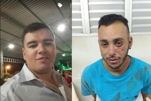 Michael (vítima) e Paulo Roberto (acusado)
