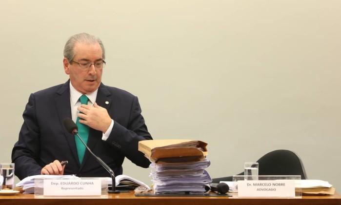 Relator lê nesta quarta voto que pede cassação de Eduardo Cunha
