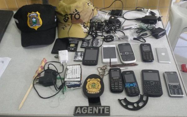 Agentes encontram aparelhos celulares no CDP de Jucurutu