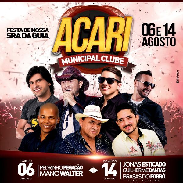 ACARI: Venda de ingressos individuais para as festas do Municipal Clube começa hoje (01)