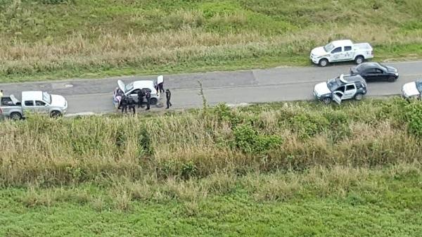 Dois homens foram presos e um veículo recuperado com o apoio do Potiguar 01