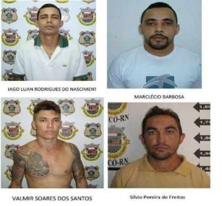 Quatro, dos 32 foragidos do Pereirão de Caicó, foram recapturados na tarde de hoje