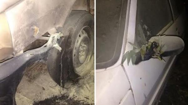 Criminosos ateiam fogo em carro da Emater no município de Santa Cruz