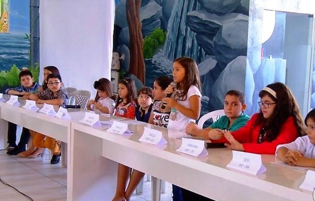 Teve até debate entre os candidatos a prefeito (Foto: Reprodução/Inter TV Cabugi)