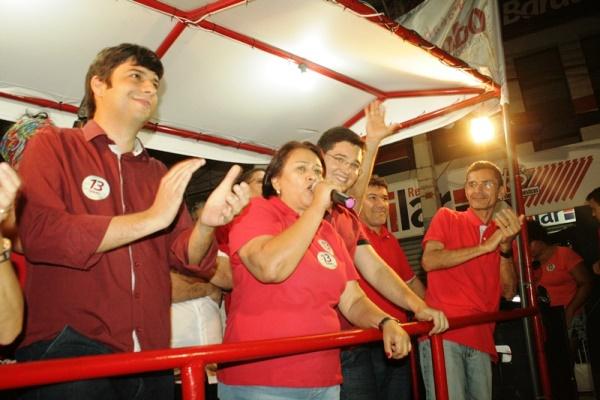 Odon Jr e Anderson realizaram grande carreata com a presença da Senadora Fátima Bezerra