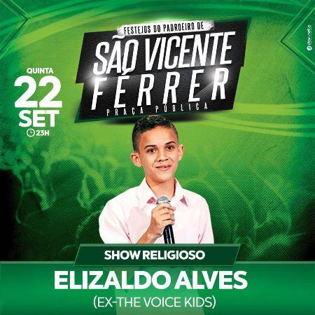Elizaldo ficou conhecido nacionalmente após participar do The Voice Kids, da Rede Globo.