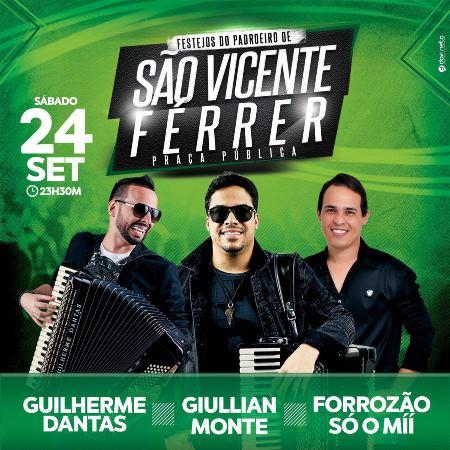 SÃO VICENTE: Guilherme Dantas, DDB e Raynnel & Só o Mii são as atrações do pavilhão de hoje (24)