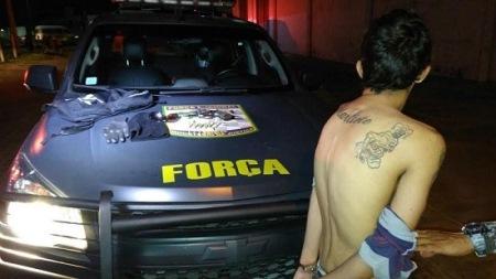 SEGURANÇA: Em Parnamirim, Força Nacional apreende adolescente armado e evita assalto