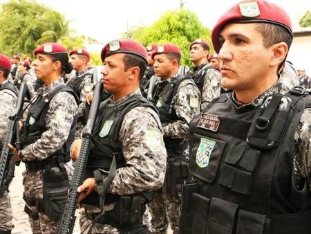 Tropa da Força Nacional começa a atuar no RN (Foto: Ivanízio Ramos/Assecom Governo do RN)