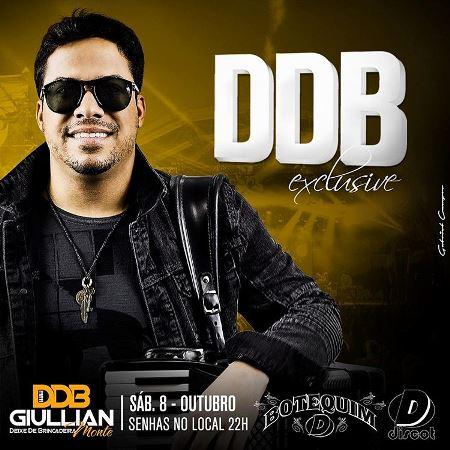 ENCONTRO MARCADO: Sábado o Botequim da Discot realiza o DDB Exclusive com Giullian Monte & Deixe de Brincadeira