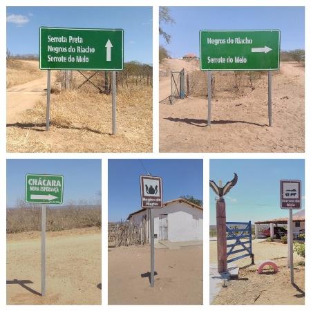 Estradas da zona rural de Currais Novos recebem sinalização turística