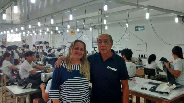 TENENTE LAURENTINO: Sueleide Araújo visita facção têxtil em busca de geração de empregos para a cidade
