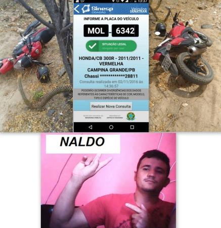 Moto roubada do cidadão de lagoa nova pelo o ladrão que fugiu baleado