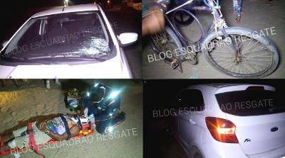 Ciclista identificado como Kennedy Borges da Silva, 51 anos.