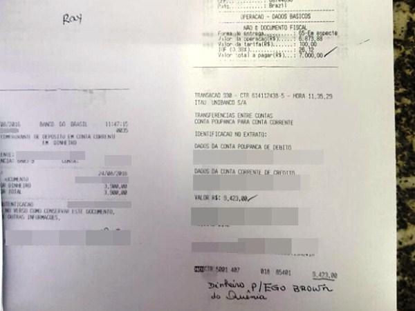 Polícia Civil de Mogi das Cruzes está com cópia dos extrato bancários dos depósitos feito por idosa que caiu em golpe aplicado por namorado da internet (Foto: Polícia Civil/ Divulgação)