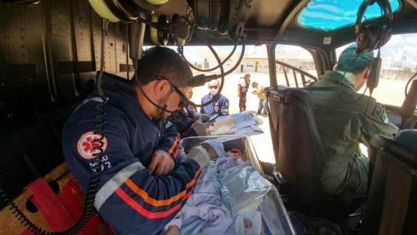 Helicóptero Potiguar 01 trabalha com antedimentos médicos no RN