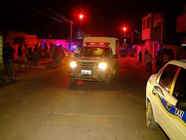 Casa onde o taxista foi morto fica na Av. Santarém, na Zona Norte de Natal (Foto: Reprodução/Inter TV Cabugi)